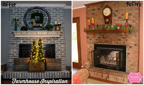 painted brick fireplace before and after painted brick fireplace farmhouse inspiration shabby paints