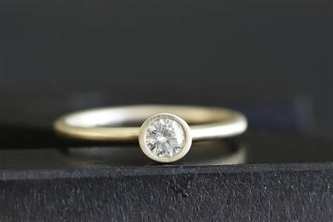 14k gold engagement ring stackable wedding band