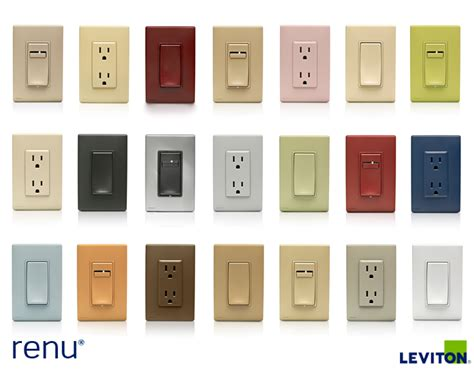 the renu color collection includes switches dimmers and