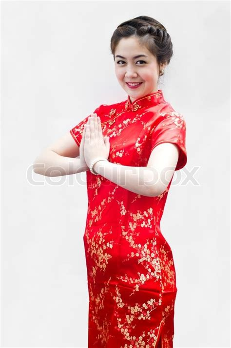 new year greeting gesture happy new year beautiful asian with gesture