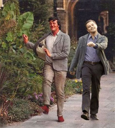 Leonardo Dicaprio Walking Meme - leonardo dicaprio happy meme