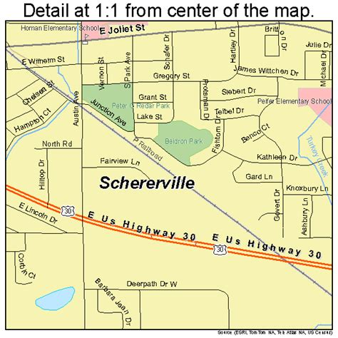 schererville indiana map indiana map