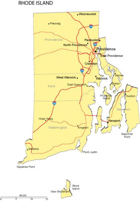 map of ri rhode island map free printable maps