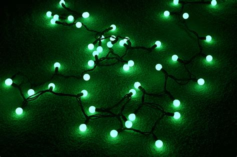 Green Led Light by 50 Indoor Outdoor Green Led Large String Lights