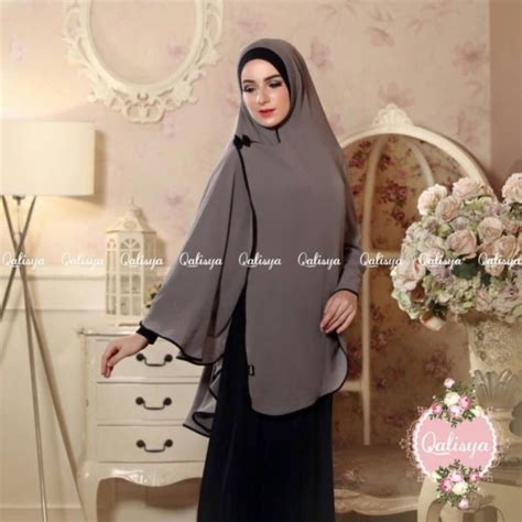 Khimar By Almira lauza instant one khimar amira slip on scarf