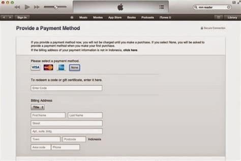 cara membuat id apple yang benar cara membuat apple id tanpa kartu kredit