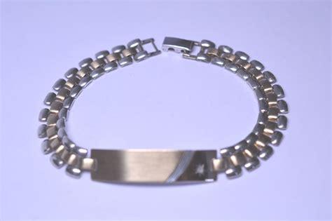 vintage sterling silver gold filled id bracelet no