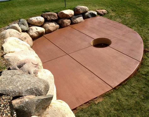 remarkable colored concrete patios design best way to
