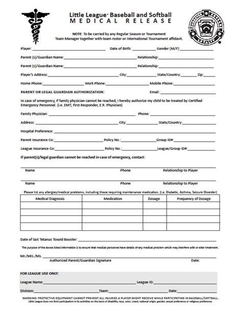 medical release form release form