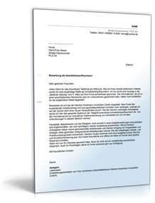Bewerbung Immobilienkaufmann Anschreiben Anschreiben Bewerbung Immobilienkaufmann Muster Zum