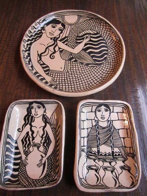 angelus paint mexico handpainted plates by morales of tzintzuntzan