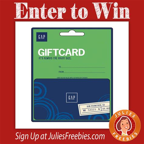 The Gap Gift Card - win a gap gift card julie s freebies