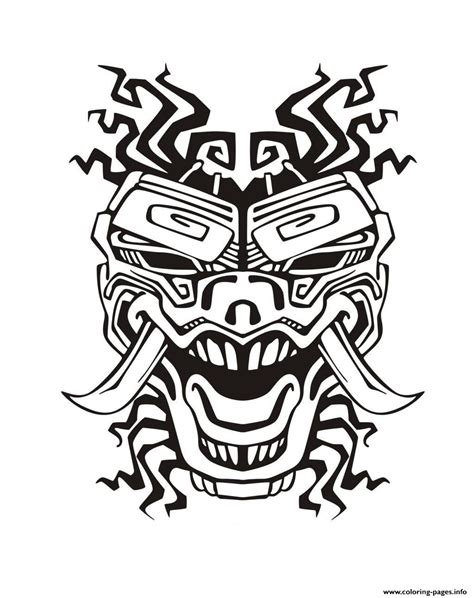 Adult Mask Inspiration Inca Mayan Aztec 2 Coloring Pages Inca Coloring Pages 2