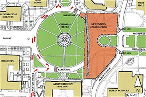 texas tech cus map construction alters traffic around memorial circle december 2008 texas tech today ttu