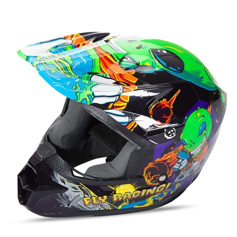 childrens motocross helmet children s motocross helmet fly racing kinetic youth