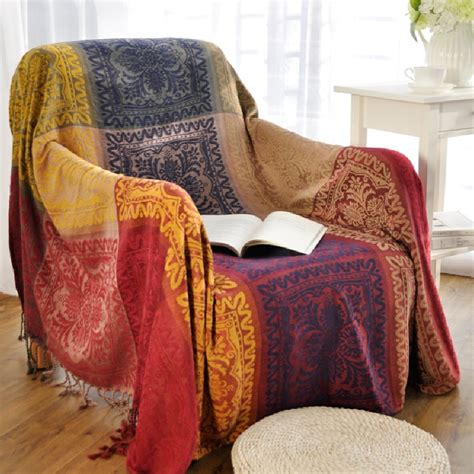 Blanket Throw For Sofa by Bohemian Chenille Blanket For Sofa Decorative