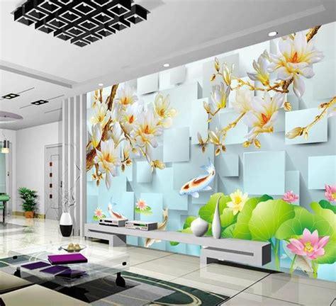 wallpaperd block magnolia  tv sofa background