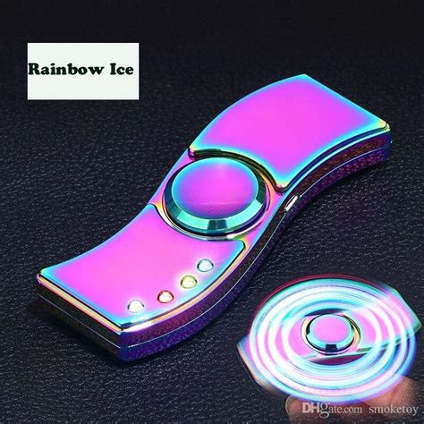 Twisted Rainbow Spinner Premium Quality light spinner lighter usb charging band 4 lights lighter spinner with light a separate