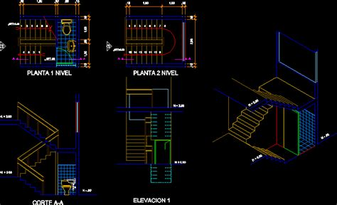 Stair Section Dwg by L Stair Bathroom Dwg Section For Autocad Designscad