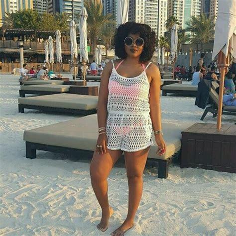 most beautiful actress in dubai mercy aigbe stylishly shares bikini photo as she enjoys