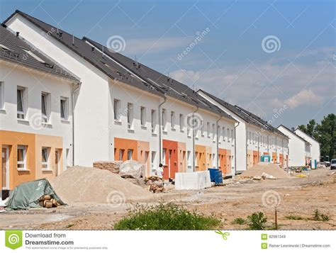 build on site homes building site with new houses under construction editorial