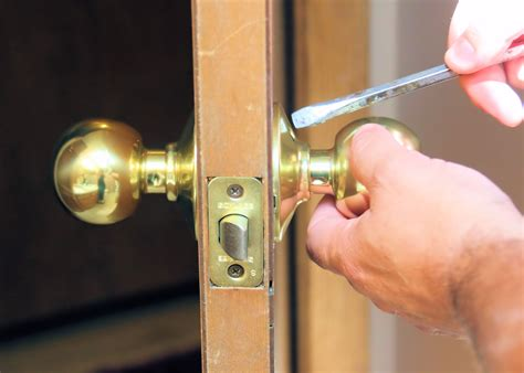How To Open Locked Door Knob by How To Replace A Door Knob Without Visible Screws