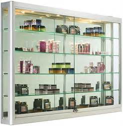 Wall Display Cabinets For Sale These Large Trophy Cases With Halogen Lights