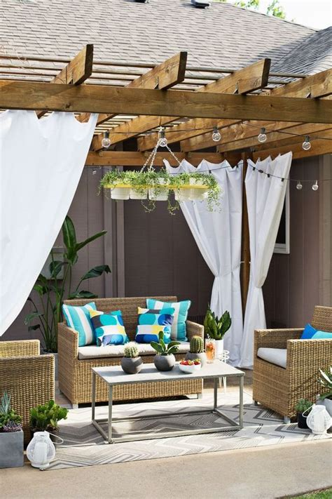 make your own outdoor curtains make your own outdoor plant chandelier a beautiful mess