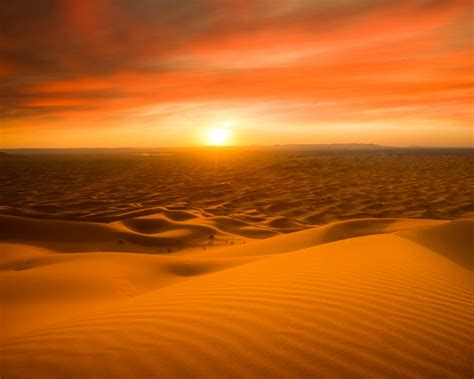 wallpaper sahara desert sand dunes sunset  nature