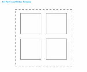 window templates cat window playhouse template picture image photo