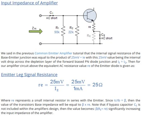 transistor lifier impedance transistors input impedance of lifier circuit electrical engineering stack exchange