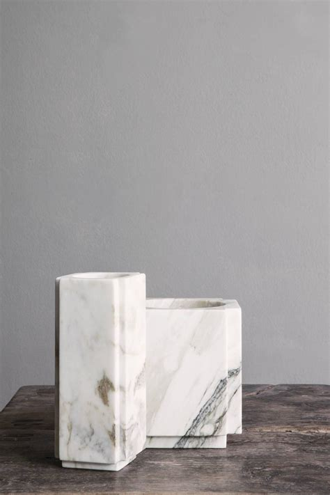 Square White Vases by Square White Marble Vase From Micha 235 L Verheyden At 1stdibs