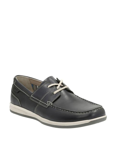 clarks loafers for clarks falston leather loafers in black for lyst