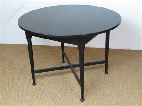 Heals Dining Tables Heal S Ebonised Circular Breakfast Dining Table Antiques Atlas