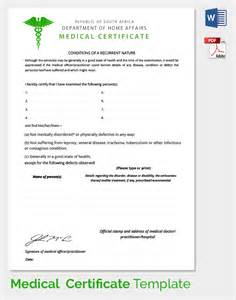 Medical Certificate Template For Sick Leave Sample Medical Certificate 27 Download Documents In Pdf