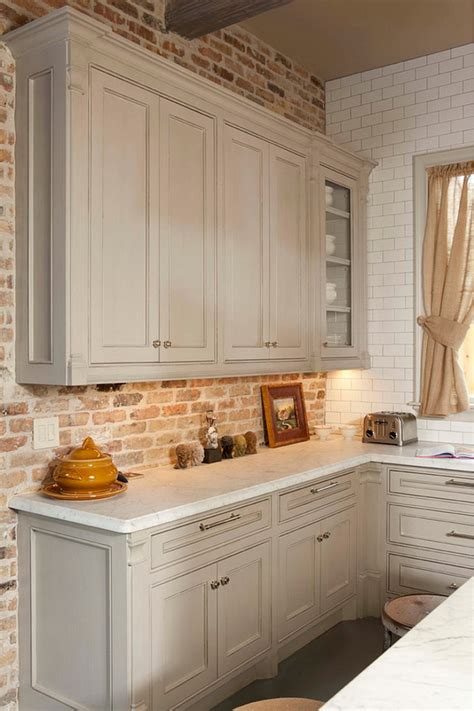 best 25 faux brick backsplash ideas on white