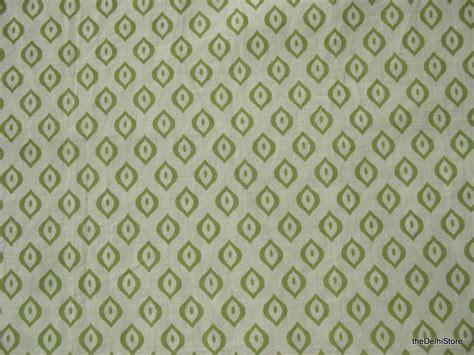 darkroom light blocking fabric block print light green indian cotton fabric remnant