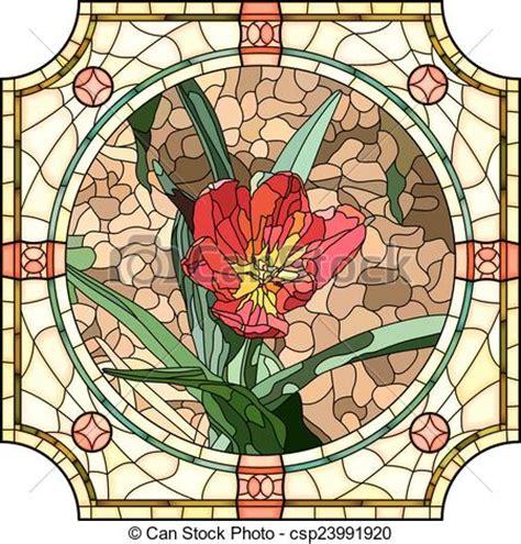 mosaico fiori fiore tulip mosaico rosso brillantemente frame