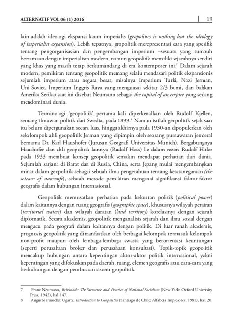 Pengantar Politik Global Introduction To Global Politics Richard W jurnal hi alternatif vol 06 no 1 2016