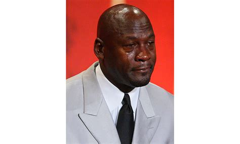 Michael Jordan Crying Meme - can a true freshman really start on the offensive line at