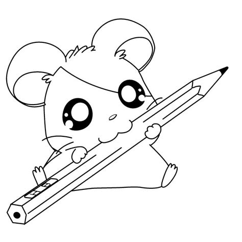 cute mouse coloring pages cute hamsters sleeping hamtaro coloring page cartoon