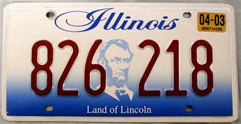 License Plate Lookup Illinois 2003 Illinois License Plate 826 218