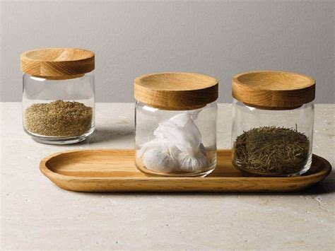 finds glass jars with tray homegirl