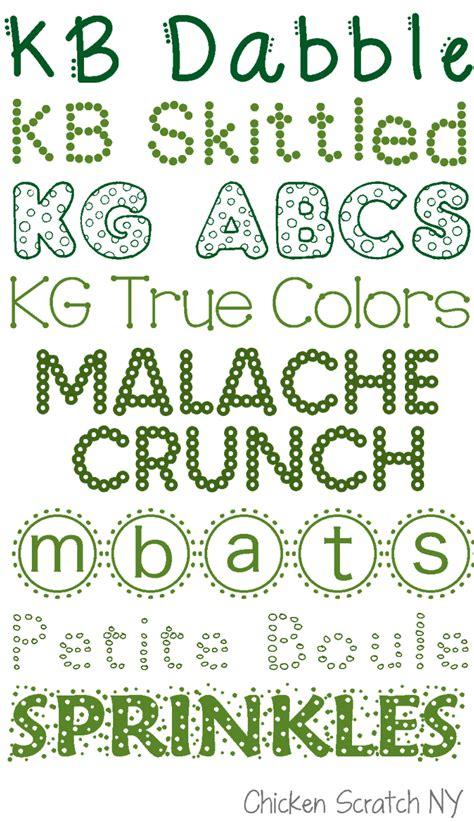 polka dot font collection