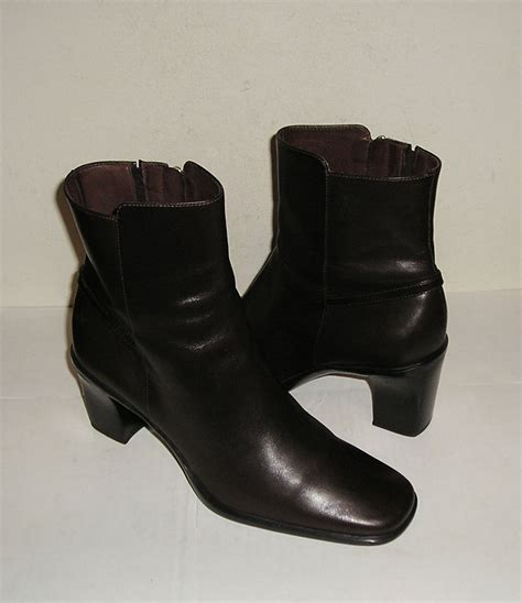 brown dress boots cole haan women s brown leather ankle dress boots 7 b 10