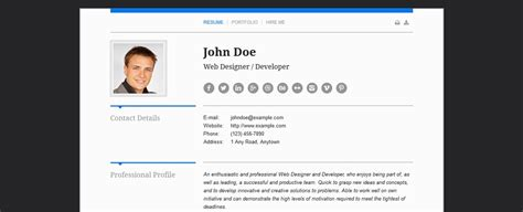 Cv Theme Free 2014 by Top 50 Cv Resume Template Designs For Mobile Ready