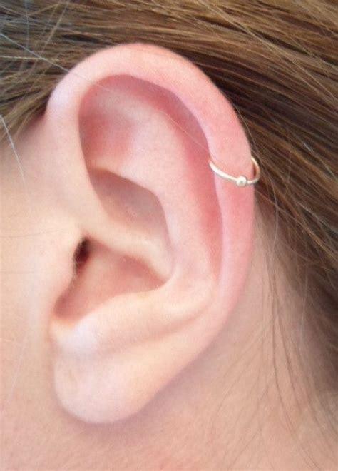 best 25 cartilage piercing hoop ideas on