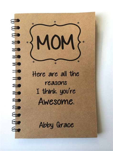 Novel A Mothers Gift birthday gift to mothers day gift notebook gift from from thank you