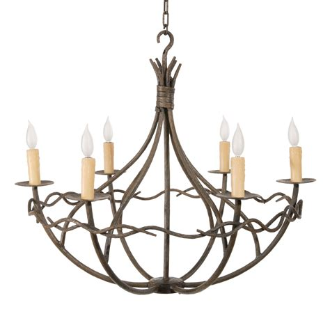 Norfork Chandelier 6 Arm W Candle Drip Cover Candle Covers For Chandeliers