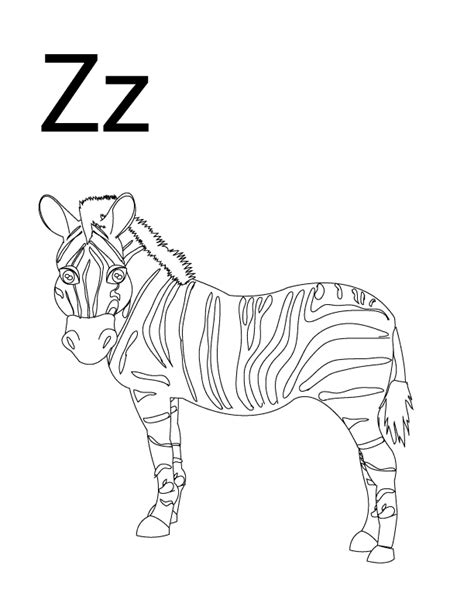 letter z coloring pages preschool letter z coloring pages coloring home